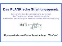 Das PLANK'sche Strahlungsgesetz-