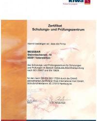 08/2013: Akkreditierung Messbar-